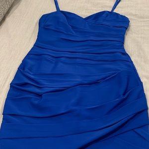 Night blue dress